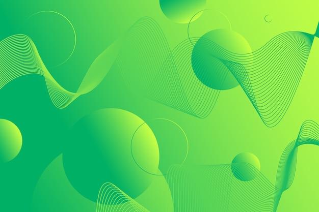 Sfondo geometrico astratto verde