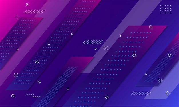 Sfondo geometrico colorato composizione di forme dinamiche