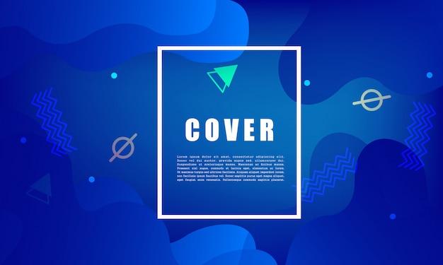 Sfondo geometrico colorato composizione di forme fluide. design per poster, flyer, vettoriale