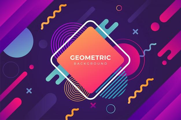Sfondo geometrico colorato con forma