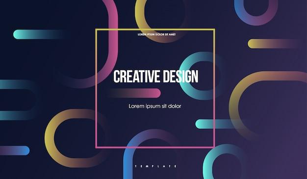 Sfondo geometrico colorato minimal design astratto con forme semplici. composizione creativa