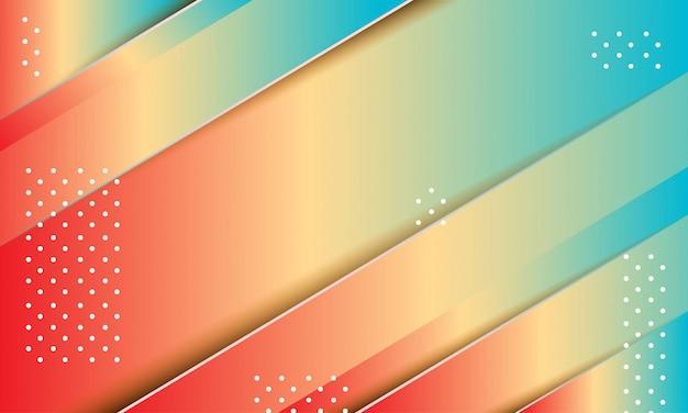 Sfondo geometrico con composizione di forme dinamiche