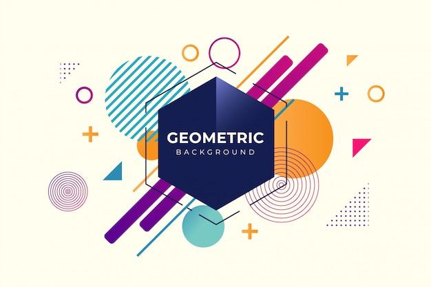Sfondo geometrico con forma