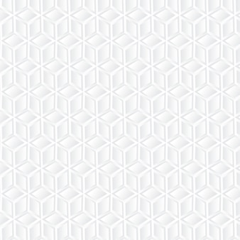 Sfondo geometrico cubo bianco