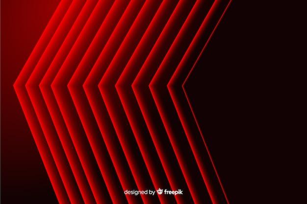 Sfondo geometrico di linee appuntite rosse astratte moderne