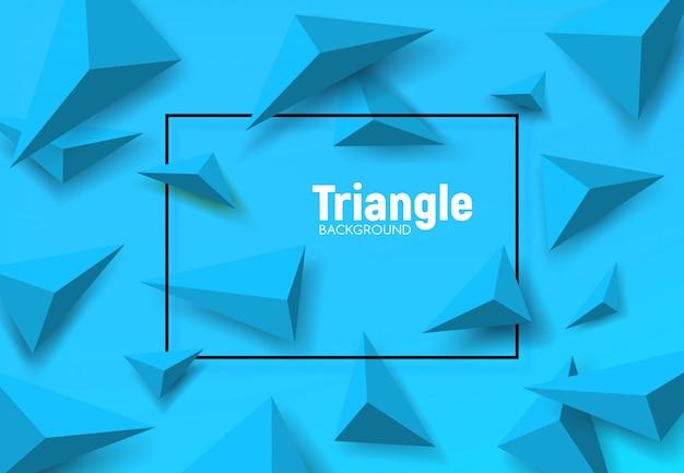 Sfondo geometrico di triangoli poligono blu