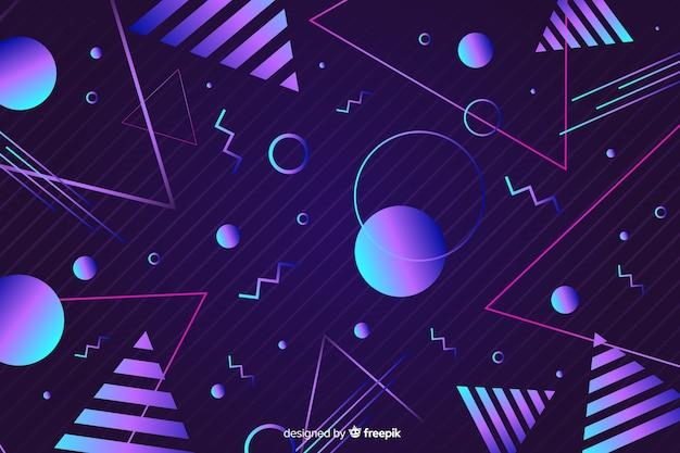 Sfondo geometrico in stile anni '80