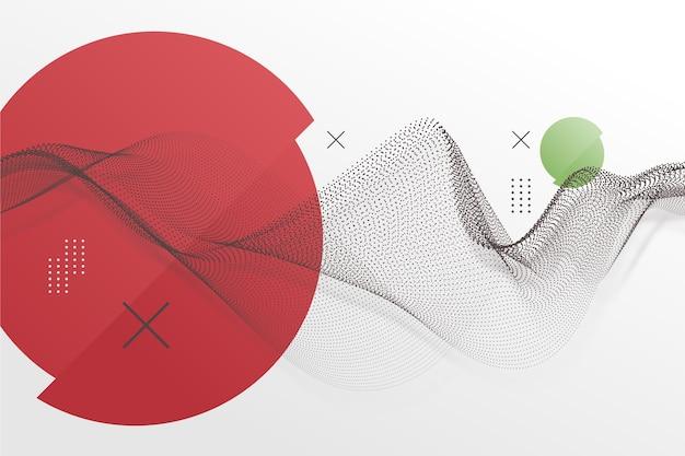 Sfondo geometrico in stile giapponese