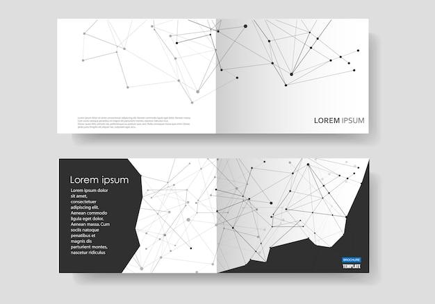 Sfondo geometrico moderno con linee e punti collegati