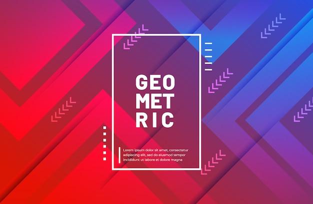 Sfondo geometrico moderno con sfumatura di colore
