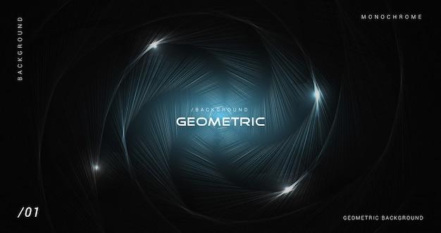 Sfondo geometrico rustico incandescente scuro