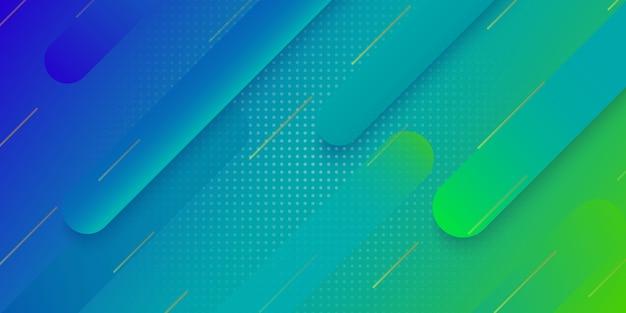 Sfondo geometrico sfumato moderno per la progettazione di copertina del manifesto