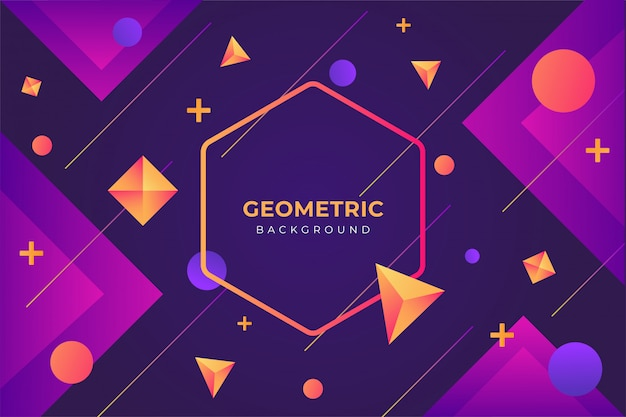 Sfondo geometrico sfumato unico con forma
