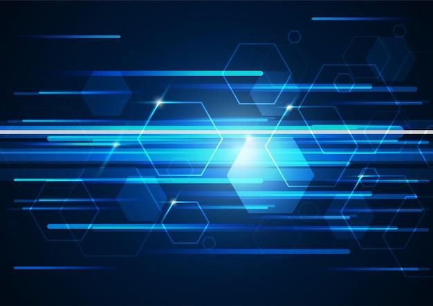 Sfondo geometrico tecnologia ad alta tecnologia