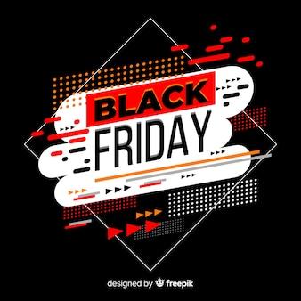 Sfondo geometrico venerdì nero