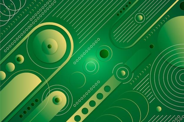 Sfondo geometrico verde moderno