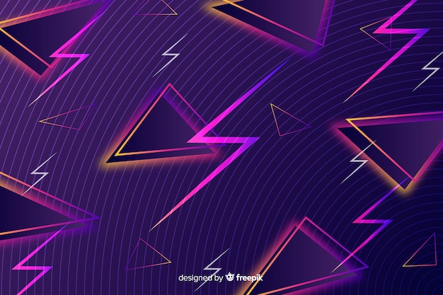 Sfondo geometrico vintage con fulmini