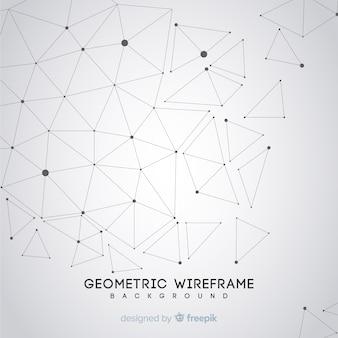 Sfondo geometrico wireframe