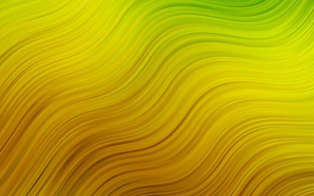 Sfondo giallo vettoriale con forme di bolla