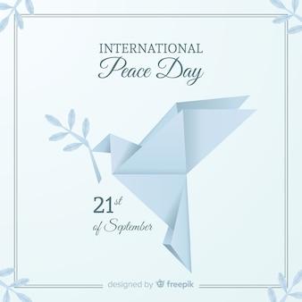 Sfondo giornata internazionale della pace con i piccioni