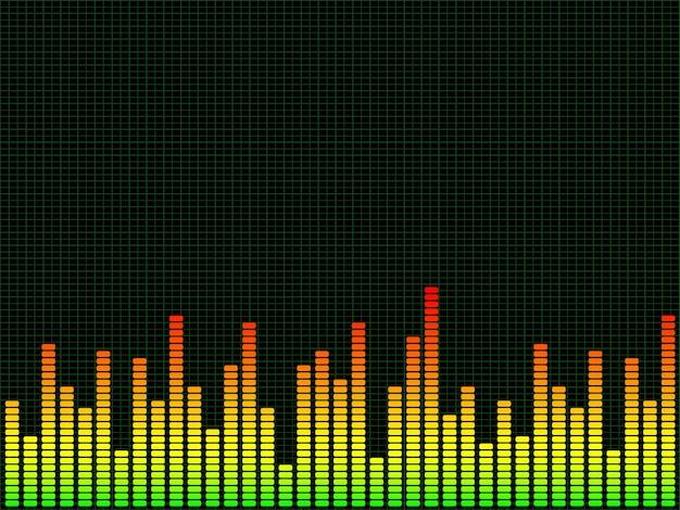 Sfondo grafico di equalizzatore
