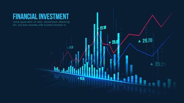 Sfondo grafico finanziario