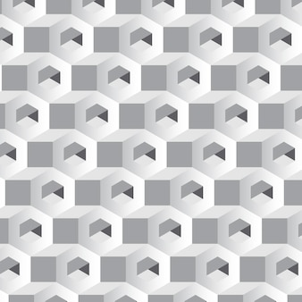 Sfondo grigio modello esagonale 3d