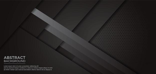 Sfondo grigio modello nero astratto