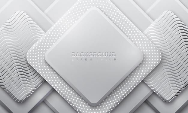 Sfondo grigio ractangle con stile 3d.