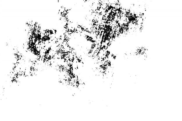 Sfondo grunge di bianco e nero. superficie vintage monocromatica astratta con motivo sporco in crepe, macchie, patatine, punti.
