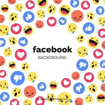 Sfondo icone di facebook con design piatto