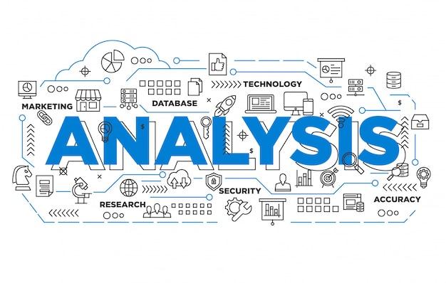 Sfondo iconico di analisi di marketing digitale