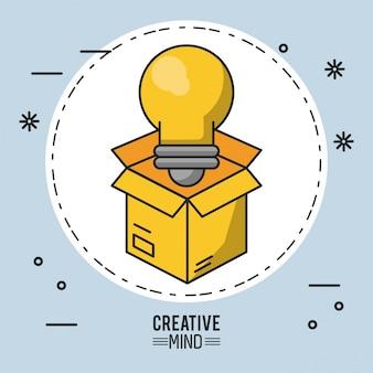 Sfondo illustrazione mente creativa