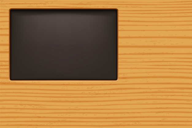 Sfondo in legno con finestra