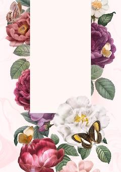 Sfondo incorniciato floreale