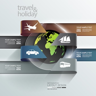 Sfondo infografica in viaggio