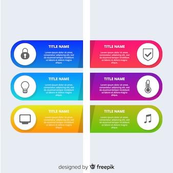 Sfondo infografica piatta
