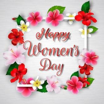 Sfondo internazionale della giornata delle donne felici