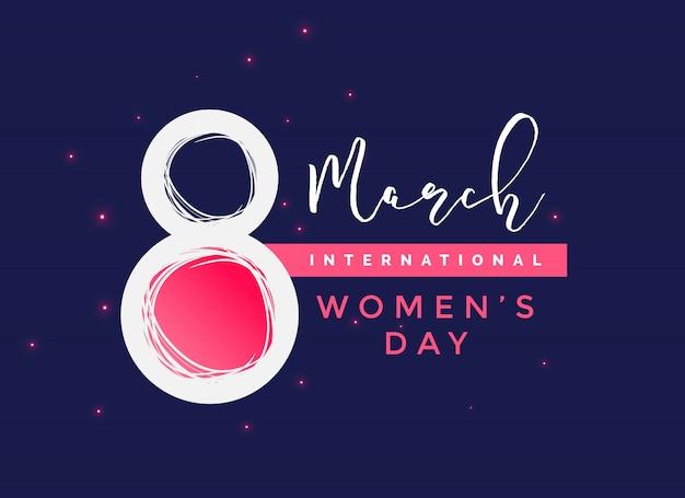 Sfondo internazionale della giornata delle donne