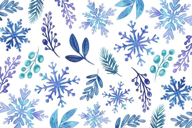 Sfondo invernale ad acquerello