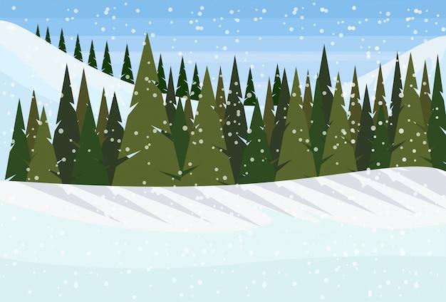 Sfondo invernale con alberi