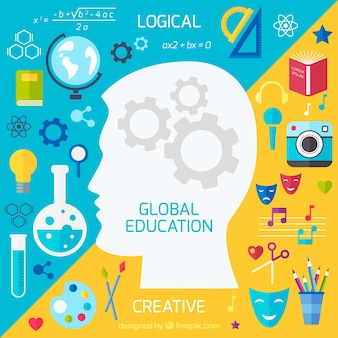 Sfondo l'educazione globale