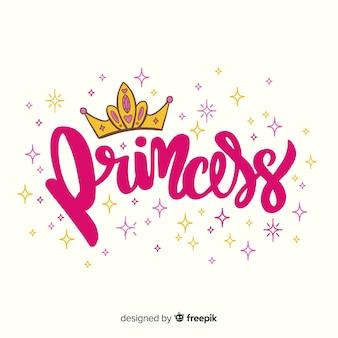 Sfondo lettering principessa