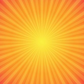 Sfondo luminoso sunburst arancione e giallo
