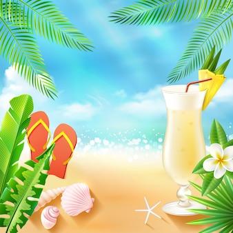 Sfondo mare tropicale