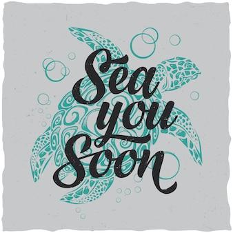 Sfondo marino con citazione