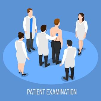 Sfondo medico dell'esame del paziente