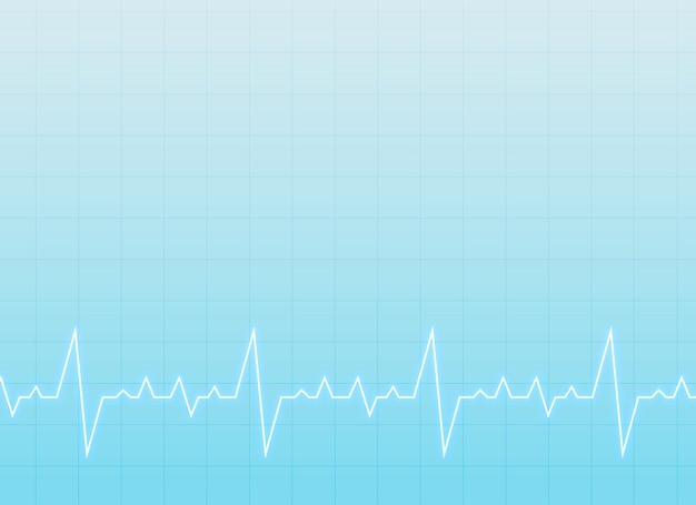 Sfondo medico e sanitario con elettrocardiogramma