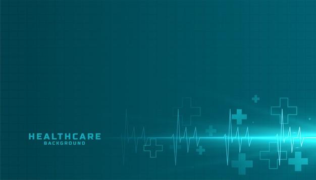 Sfondo medico e sanitario con linea cardiografo