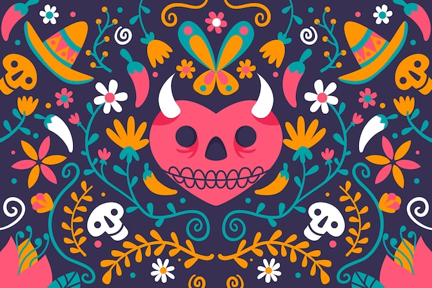 Sfondo messicano multicolore